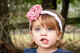 Zoey Headband with Loopy Flower