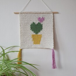 I Heart Cacti Wall Hanging