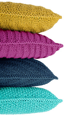 Hoooked Knitted Cushion Kit in RibbonXL