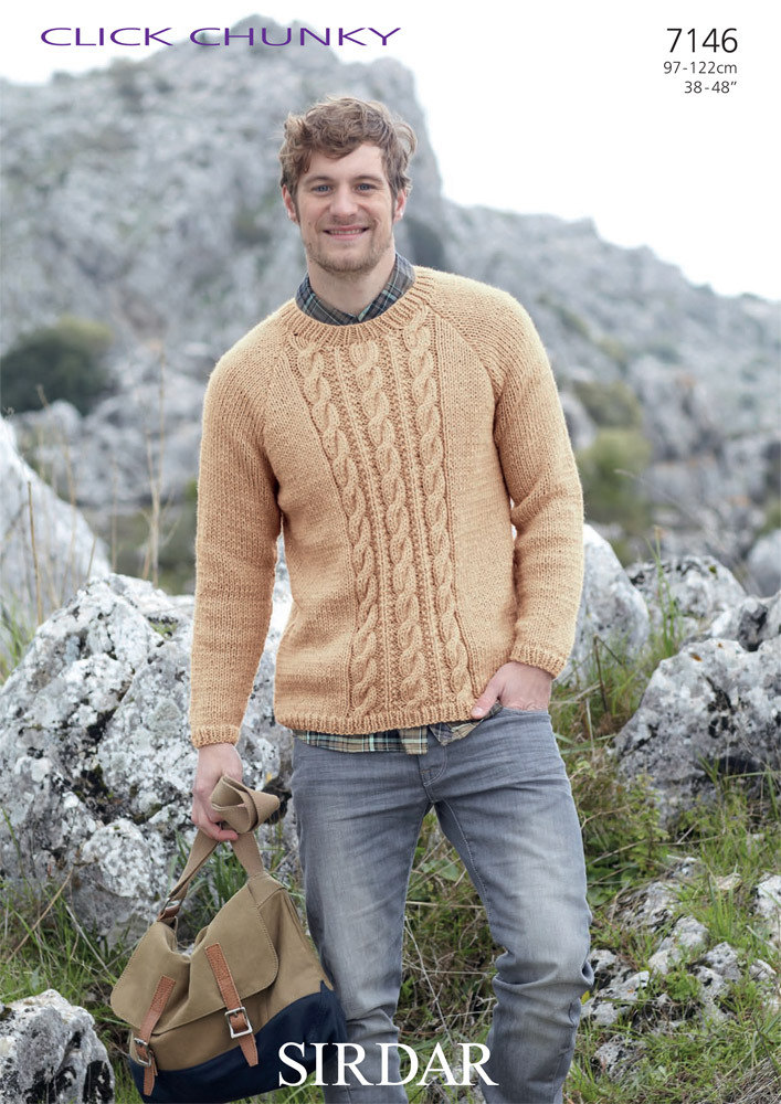 6fb0510f9f39e Man s Sweater in Sirdar Click Chunky - 7146 - Downloadable PDF