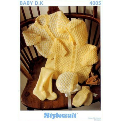 Jackets, Bonnet, Leggings and Mitts in Stylecraft Wondersoft DK - 4005