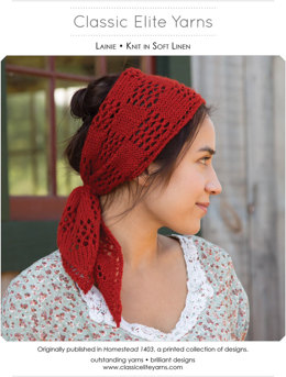 Lainie Head Scarf in Classic Elite Yarns Soft Linen - Downloadable PDF
