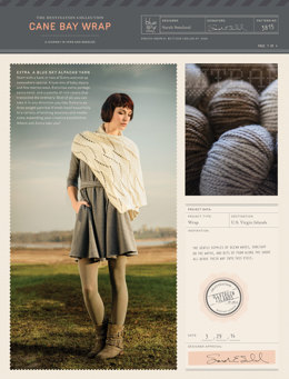 Cane Bay Wrap in Blue Sky Fibers Extra - 3815 - Downloadable PDF