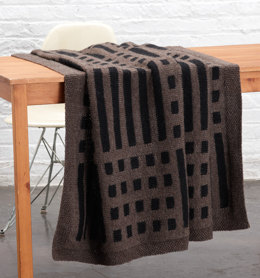 Mud Cloth Inspired Afghan in Lion Brand Vanna's Choice - L0719