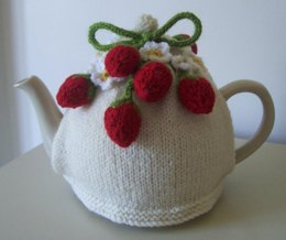 Tea cosy knitting patterns loveknitting strawberry fields tea cosy dt1010fo