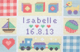 Anchor Baby Birth Sampler Cross Stitch Kit - 23cm x 16cm