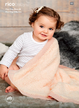 Blankets in Rico Baby Classic DK and Teddy Aran - 465 - Downloadable PDF