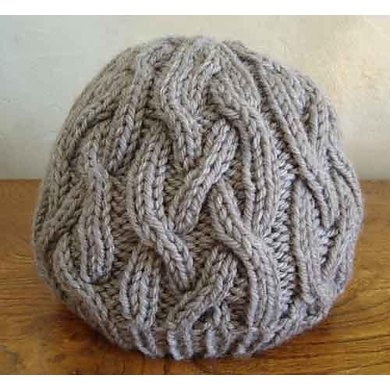 92 One Skein Braided Cable Hat Knitting Pattern By Sweaterbabe