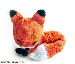 Knit Sleepy Fox Amigurumi