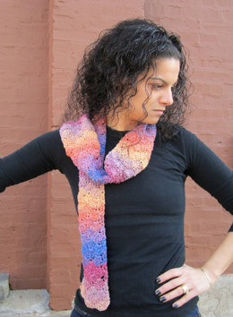 Crochet Scarf in Plymouth Kudo - F351
