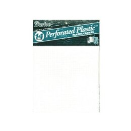 "Darice Perforated Plastic Canvas 14 Count 8.5"" X 11"" - 2/Pkg, Clear"