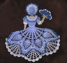 0655 Miss Belle Crinoline Girl Doily