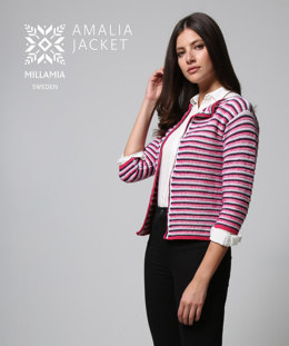 Amalia Jacket in MillaMia Naturally Soft Merino - Downloadable PDF