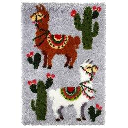 Orchidea Llamas Rug Latch Hook Kit - 50cm x 74.5cm