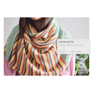 Georgette Shawl by Cheryl Eaton - Shawl Knitting Pattern in The Yarn Collective - Downloadable PDF
