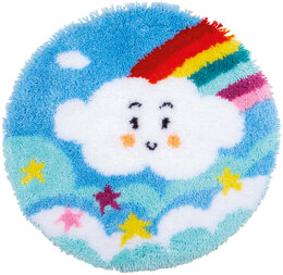 Vervaco Rainbow Cloud Rug Latch Hook Kit