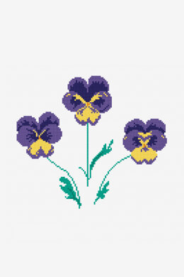 Viola Pansies in DMC - PAT0649 - Downloadable PDF