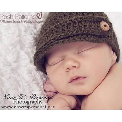 Newsboy Visor Hat With Strap Crochet Pattern 197 Crochet Pattern By