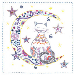 Un Chat Dans L'Aiguille In the Moonlight Embroidery Kit