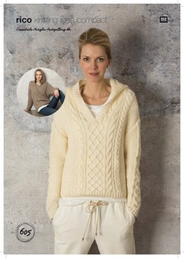 684469380c2c Cabled Tunic and Sweater in Rico Essentials Acrylic Antipilling DK - 605 -  Downloadable PDF