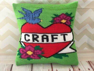Craft Vintage Tattoo Cushion Cover