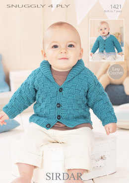 Boys Cardigans in Sirdar Snuggly 4 ply - 1421