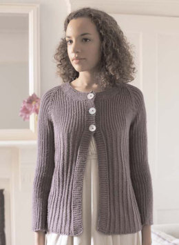 """Lily Cardigan"" - Cardigan Knitting Pattern For Women in Debbie Bliss Cashmerino Aran - CMC05"