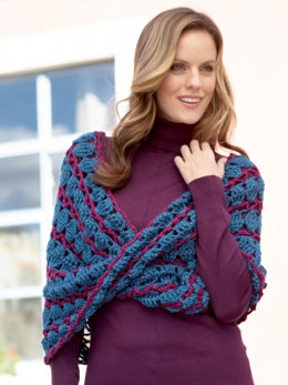 Lace Infinity Cowl in Caron Simply Soft and Simply Soft Collection - Downloadable PDF