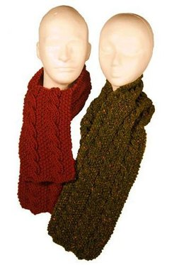 Easy Reversible Cable Scarves