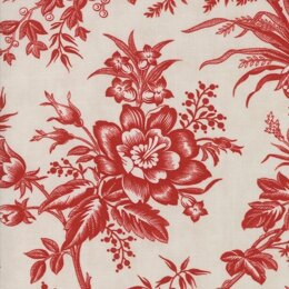 Moda Fabrics 3 Sisters Snowberry Snow Berry Floral Toile Red