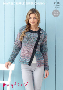 Jacket in Hayfield Ripple Super Chunky - 7198