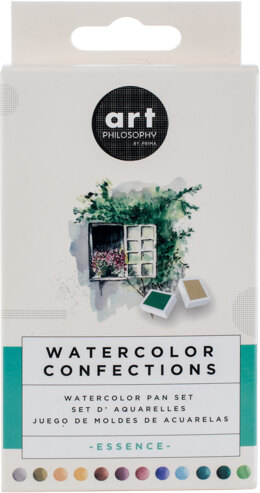 Prima Marketing Prima Watercolor Confections Watercolor Pans 12/Pkg - Essence