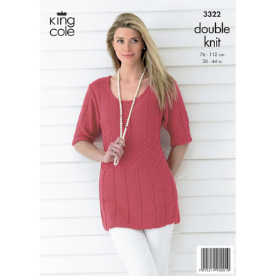 Ladies' Top and Cardigan in King Cole Bamboo Cotton DK - 3322