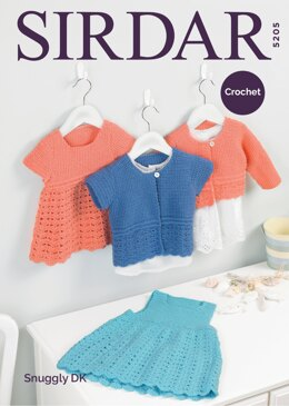Pinafore, Dress and Cardigans in Sirdar Snuggly DK - 5205 - Downloadable PDF