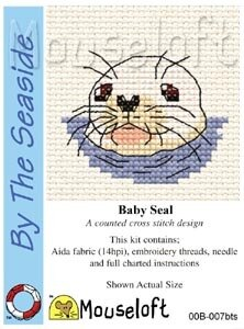 Mouseloft By the Seaside Baby Seal Cross Stitch Kit - 64mm