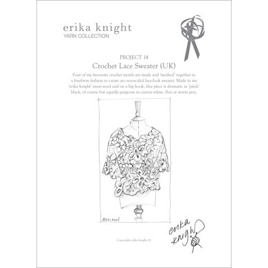 Crochet Lace Sweater in Erika Knight Maxi Wool