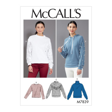 McCall's Misses' Tops M7839 - Sewing Pattern