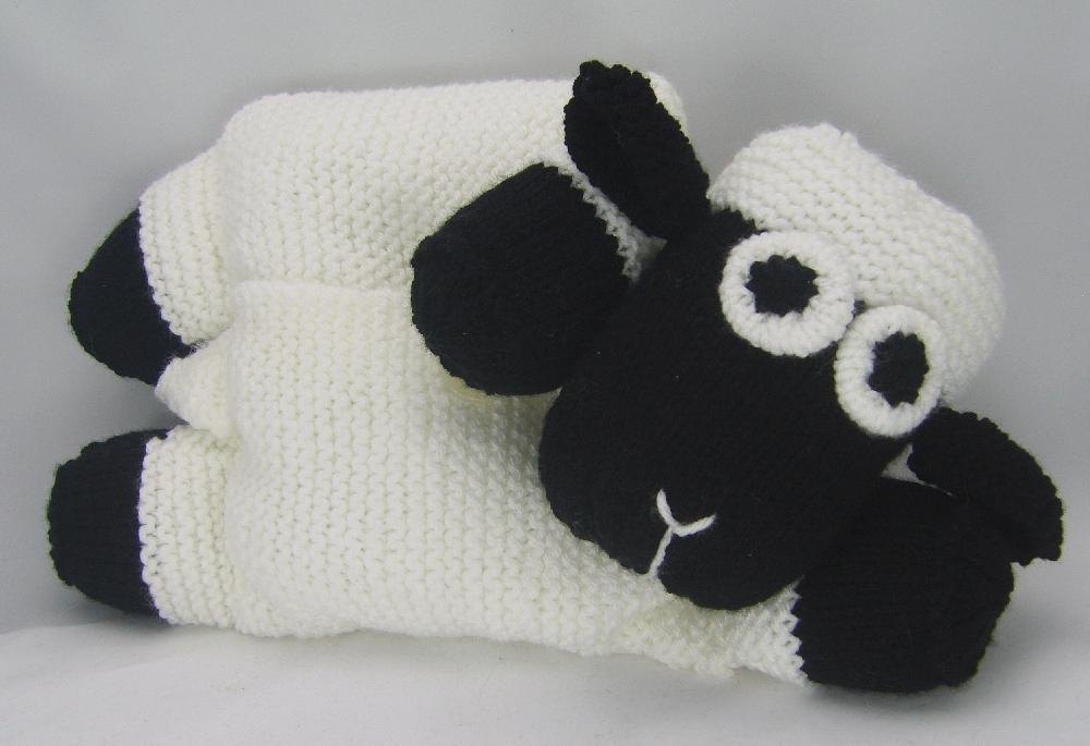 Knitting By Post Facebook : Sheep pyjama case knitting pattern by post
