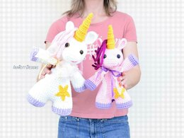 Sophia The Chubby Little Unicorn Crochet PDF Pattern
