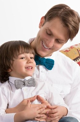 Bow Ties for the Guys in Red Heart Soft Solids - LW4328