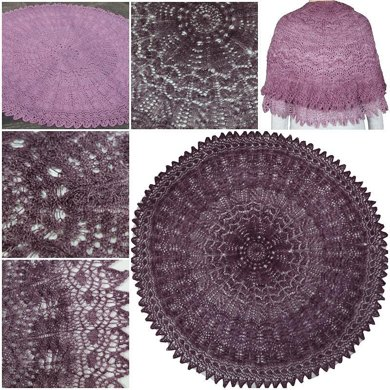 Begonia and Rose Shawl