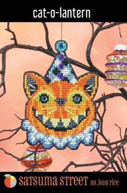 Satsuma Street Cat-o-lantern Cross Stitch Kit