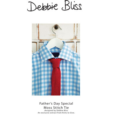 Father's Day Special Moss Stitch Tie in Debbie Bliss Baby Cashmerino