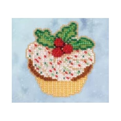 Mill HillHolly CupcakeCross StitchKit - 2.5in x 3in