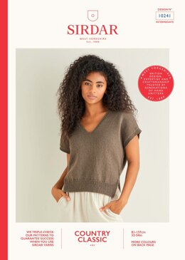 Short Sleeve Top in Sirdar Country Classic 4ply - 10241 - Downloadable PDF
