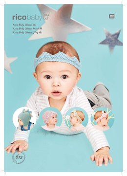 Hats and Headbands in Rico Baby Classic DK, Baby Classic Print DK & Baby Classic Glitz DK - 612 - Downloadable PDF