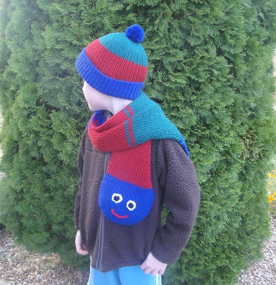Caterpillar Hat & Scarf Knitting pattern by Emily