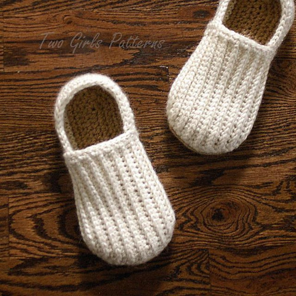 Mens House Shoes The Lazy Day Loafer Slipper Crochet Pattern By Two