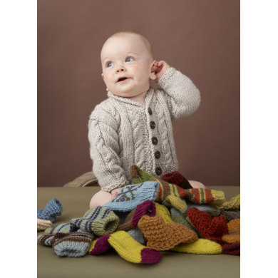 Heirloom Cables Baby Sweater in Lion Brand Vanna's Choice - 60647AD