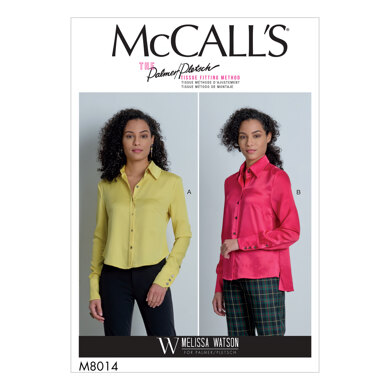 McCall's Misses' Shirts M8014 - Sewing Pattern